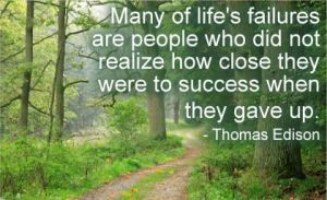 Thomas Edison quote on failure