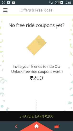 ola Free Ride for New user