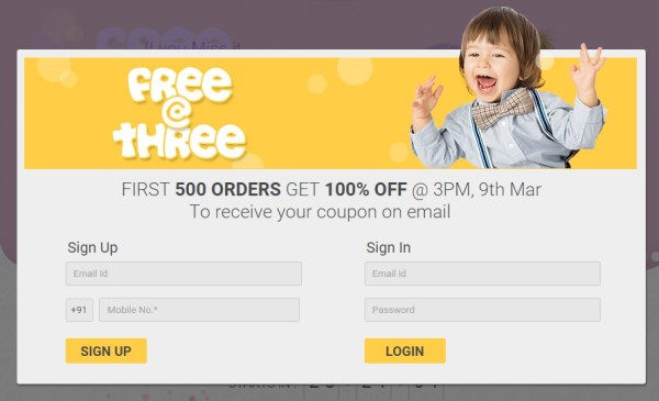 firstcry free at three offer