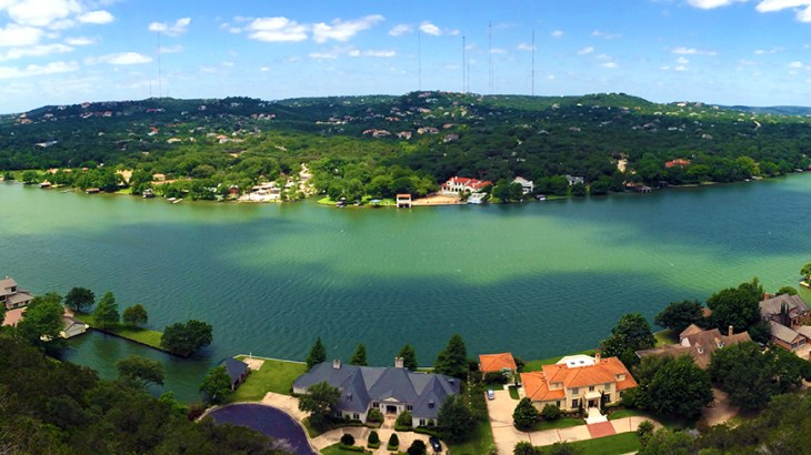 Colorado River, Austin, Mount Bonnell, Panorama