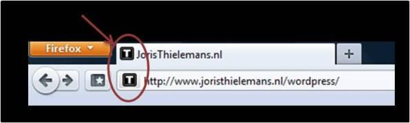 Favicon voorbeeld Joris Thielemans