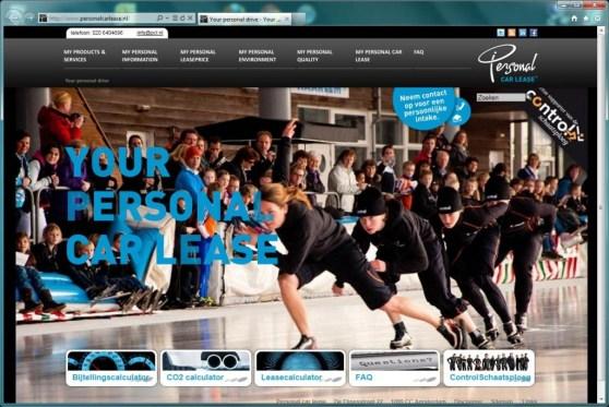 pcl.nl homepage screenshot control schaatsploeg