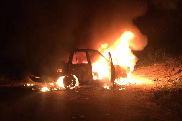 Carro incendiado em foto que circula no WhatsApp não é no Travessão
