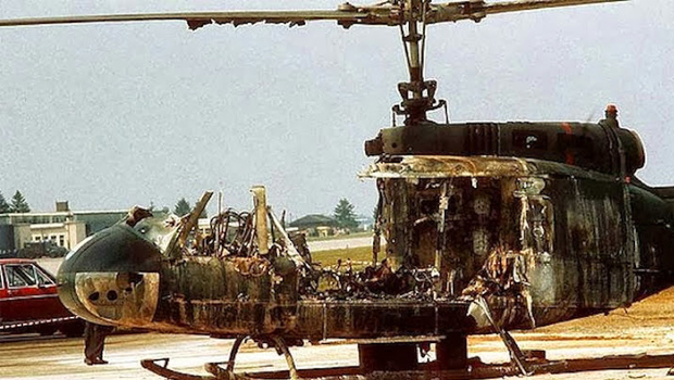 Cinco israelenses morreram reféns dentro de um helicóptero explodido por terroristas do grupo Setembro Negro  / httpestudosviquianosblogspotcom.dihitt.com