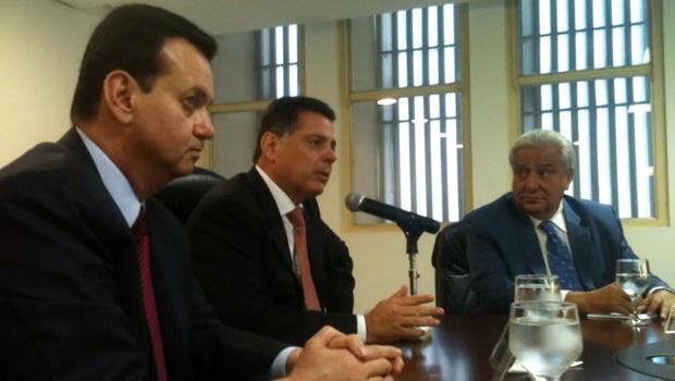 Gilberto Kassab, Marconi Perillo e Vilmar Rocha (da esuqerda para a direita) / Foto: Marcello Dantas/ Jornal Opção