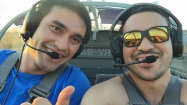 Guilherme e Erik perderam a vida em acidente aéreo em Pirenópolis   Foto: Reprodução/Facebook