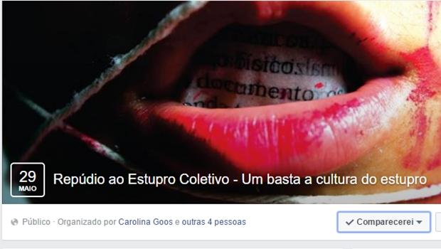 Goiânia terá ato contra a cultura de estupro no próximo domingo (29/5)