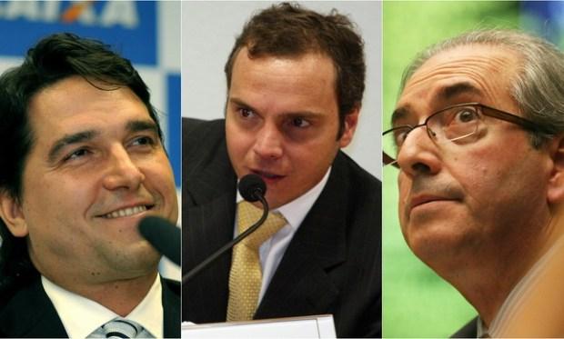 Fábio Cleto, Lucio Funaro e Eduardo Cunha - Montagem: Jornal Opção