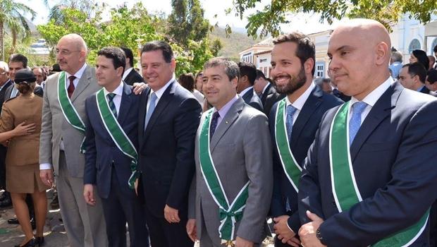 Na Cidade de Goiás, Marconi homenageia governadores, embaixadores e ministros
