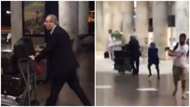 Resultado de imagem para eduardo Cunha apanha no aeroporto Santos dumont?