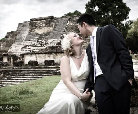 Maya Ruin Wedding Belize   Altun Ha Maya Site