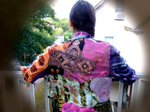 Back view of small jacket