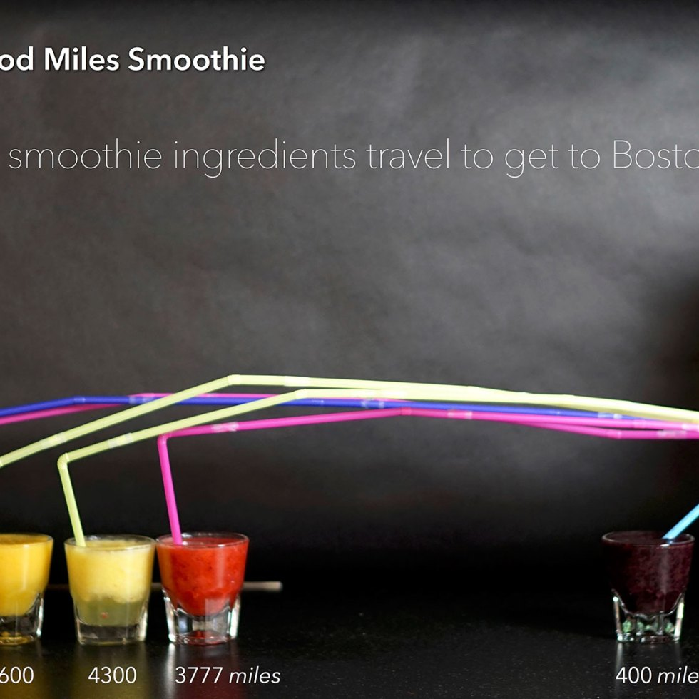 Deconstructed Food Miles Smoothie