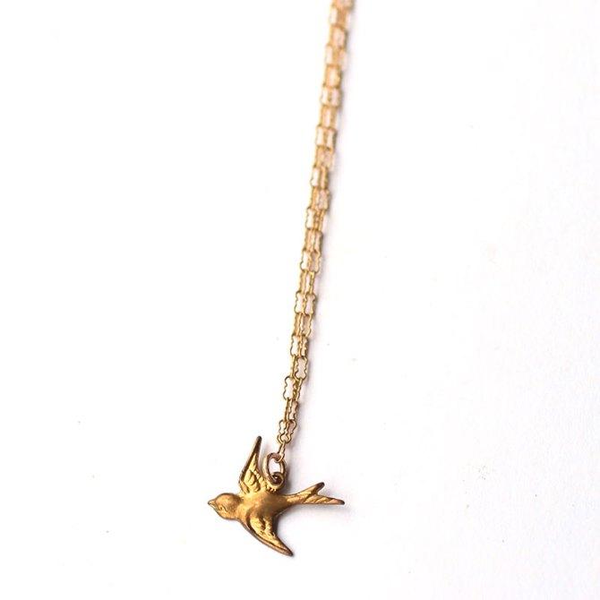 bird-brass-charm-necklace-14k-gold-filled-handmade-jewelry