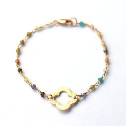 clover-rainbow-tourmaline-bracelet-handmade-jewelry