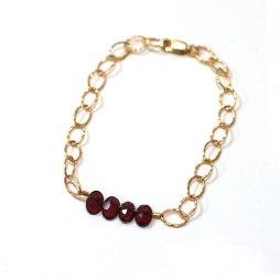 garnet-january-birthstone-bracelet-hammered-14k-gold-chain