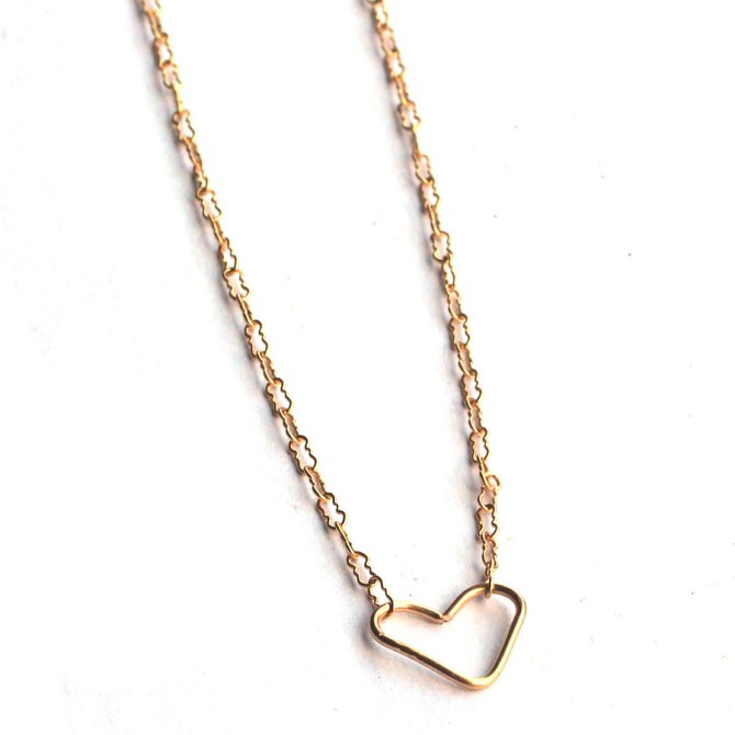 gold-heart-necklace-hand-formed-heart-jewelry