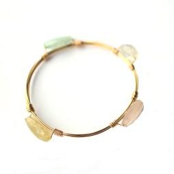 handmade-bangle-bracelet-stones-wire-wrapped