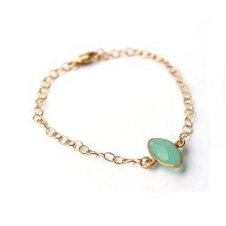 handmade-blue-chalcedony-bracelet-simple-jewelry-layer-bracelets