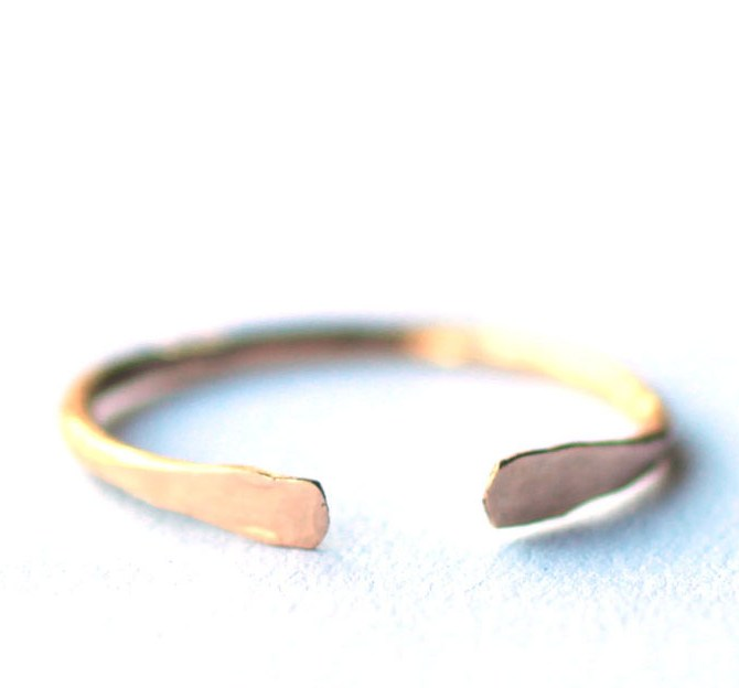 handmade-open-cuff-ring-hammered-gold
