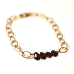 january-birthstone-garnet-hammered-bracelet-handmade