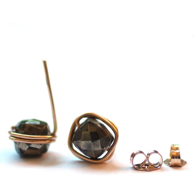 pyrite-studs-14k-gold-fill-wrapped