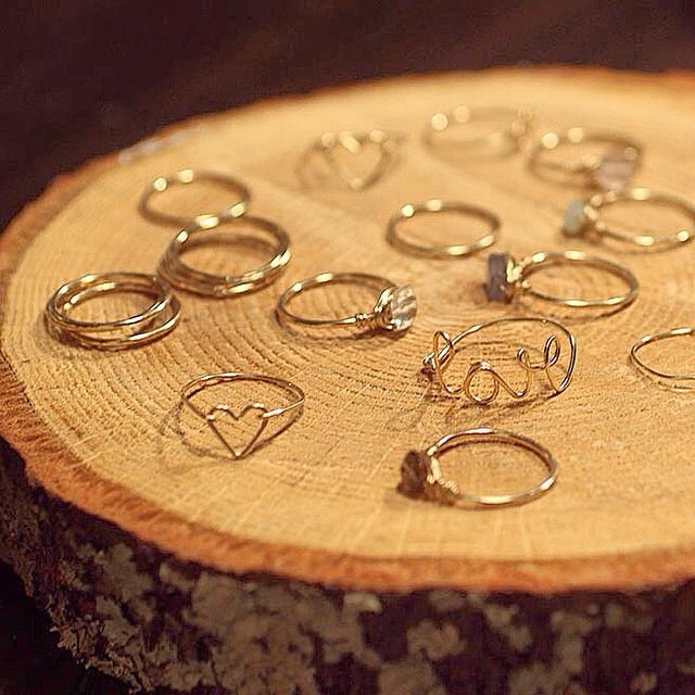 simple-gold-rings-stacking-love-heart-rings-atlanta