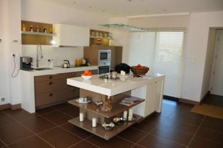cuisine design ilot central maison loft lyon
