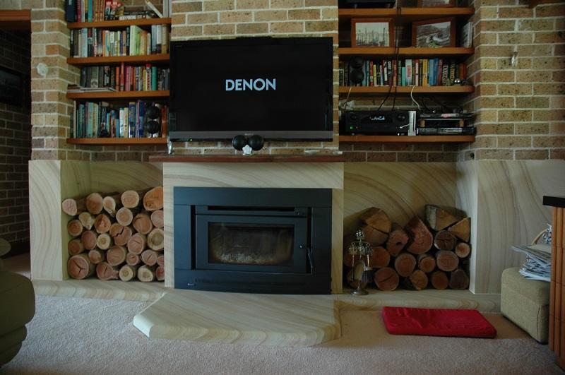 Sawn Sandstone Fireplace Surround & Hearth