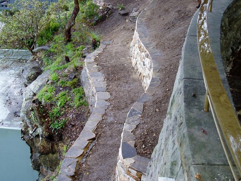 Serpant Sandstone Garden Walls