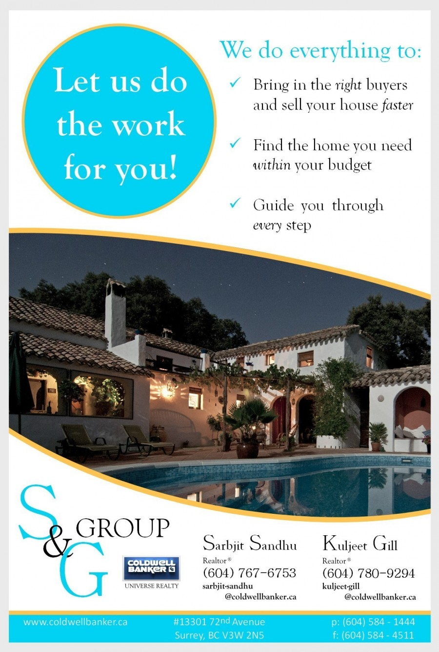 S&G Group Flyer Back