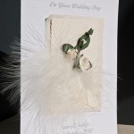 Feathers and Roses Wedding Card Angle - Ref P105
