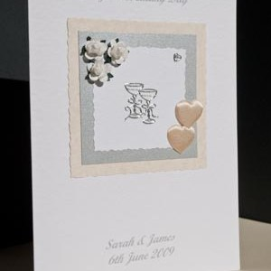 Roses and Hearts Wedding Card Angle - Ref P118