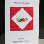 Caterpillar - Birthday Card Angle - Ref P164