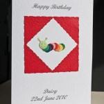 Caterpillar - Birthday Card Angle - Ref P164