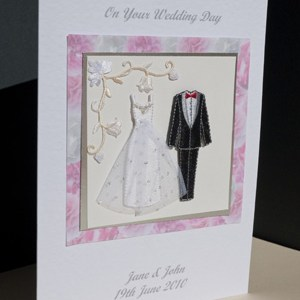Bride and Groom Wedding Card Angle - Ref P168