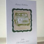 Mini Car - Men's Birthday Card Angle - Ref P187