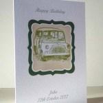 Mini Car - Men's Birthday Card Angle - Ref P187