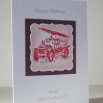Vintage Fire Engine - Men's Birthday Card Angle - Ref P188