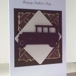 Veteran Car Fathers Day Card Angle - Ref P208