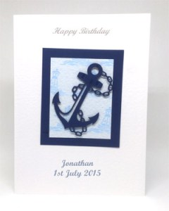 Anchors aweigh! - Men's Birthday Card Front - Ref P214