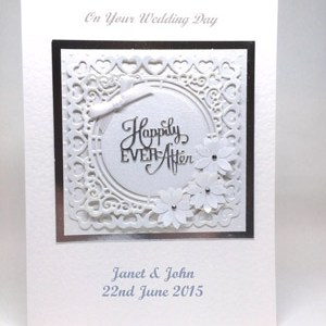 Happily Ever After - Wedding Card Front - Ref P218