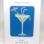 Celebration Cocktail - Women's Birthday Card Front - Ref P221