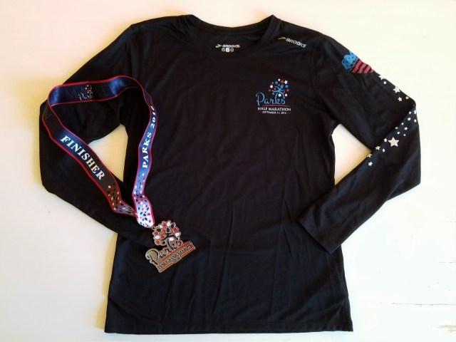 2016 Parks Half Marathon Shirt and Medal