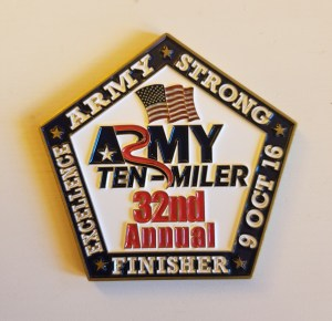2016 Army Ten Miler Medal