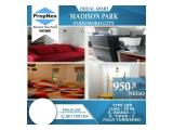 Dijual Apartemen Madison Park Type 1BR Fully Furnished and Semi Furnished