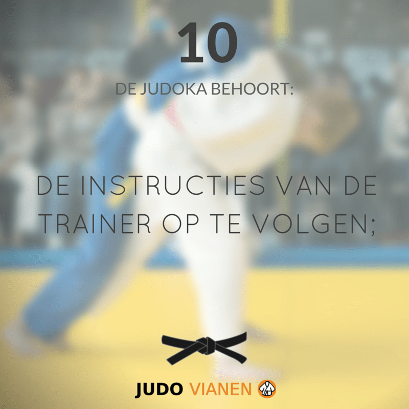 10-instructies trainer opvolgen