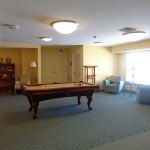 3rd floor billiard room at Judson Meadows assisted living community