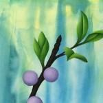 leaf detail on acrylic inks