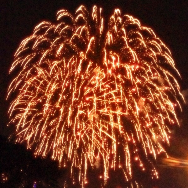 Fireworks in New Jersey On July 4